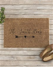 Personalised Family House Doormat