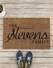 Personalised The Family Doormat
