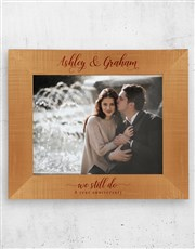 Personalised We Still Do A3 Photo Frame