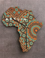 Personalised Home Africa Clock