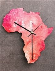 Personalised My Heart Africa Clock