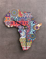 Personalised Happy Family Africa Clock
