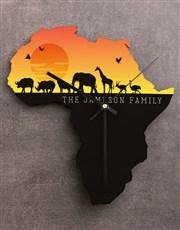 Personalised Sunset Africa Clock