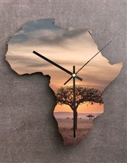 Personalised Couples Sunset Africa Clock
