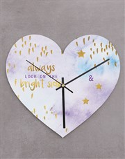 Personalised Bright Side Heart Clock