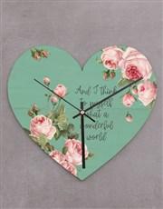 Wonderful World Heart Clock