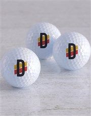 Personalised Racing Stripe Golf Balls