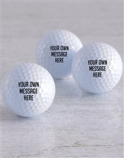 Personalised Message Golf Balls
