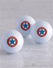 Personalised Retro Stamp Golf Balls
