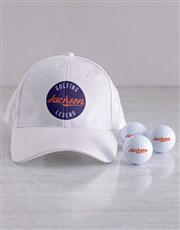 Personalised Legend Golf Balls and Cap