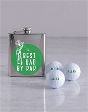 Personalised Golf Balls and Best By Par Hipflask
