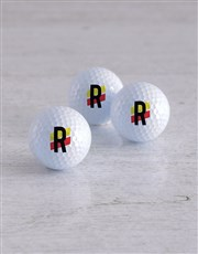 Personalised Stripe Golf Balls and Waterbottle