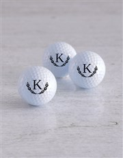 Personalised Wreath Golf Balls and Waterbottle
