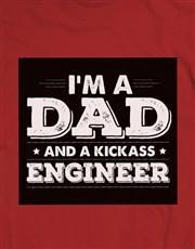 Personalised Dad and Kickass T Shirt