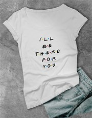 Personalised Dotted Text Ladies T Shirt