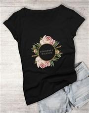 Personalised Message Peony Ladies T Shirt