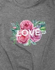 Personalised Message Flowers Ladies T Shirt