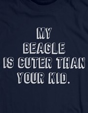 Personalised My Dog is Cuter T Shirt