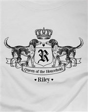 Personalised Royal Hound Ladies T Shirt