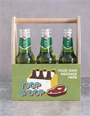 Personalised Tjop en Dop Man Crate