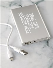 Personalised Message Power Bank