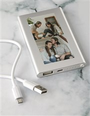 Personalised Two Photo Power Bank