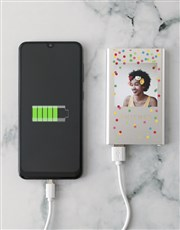Personalised Confetti Power Bank