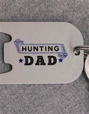 Personalised Dad Metal Keyring