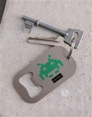 Personalised Press Start Metal Keyring