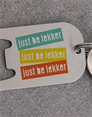 Personalised Be Lekker Metal Keyring