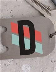 Personalised Initial Metal Keyring