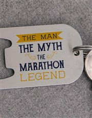 Personalised Man Myth Legend Metal Keyring