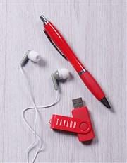Personalised Star Red Tech Hamper