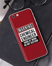 Personalised Warning iPhone Cover