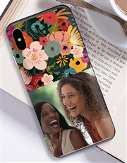 Personalised Photo Floral iPhone Cover