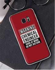 Personalised Warning Samsung Cover