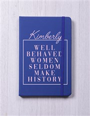 Personalised Women Make History Notebook