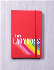 Personalised Lady Boss Notebook