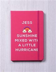 Personalised Sunshine With Hurricane Notebook