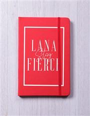 Personalised Slay Fierce Notebook
