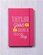 Personalised A Good Day Notebook