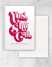 Personalised Yes She Can Ring Bound Notebook