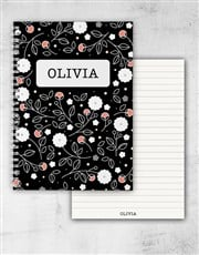 Personalised Colourful Floral Ring Bound Notebook