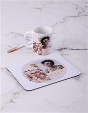 Personalised Floral Photo Mousepad
