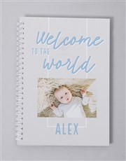 Personalised Welcome To The World Baby Journal