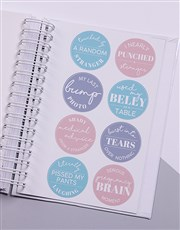 Personalised Greatest Adventure Pregnancy Journal