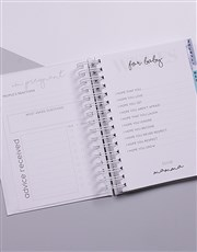 Personalised Baby On Board Pregnancy Journal