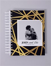 Personalised Gold Chic Wedding Journal
