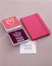 Personalised Badass Note Gift Set