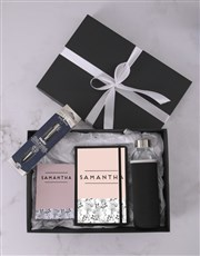 Personalised Floral Sketch Go Stationery Set